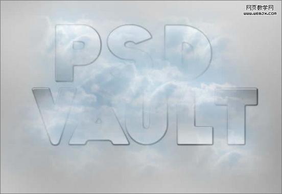 PS文字特效教程之蓝天白云光线照射文字