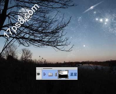 PS照片特效基础教程之打造梦幻的旷野星夜