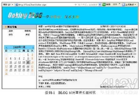 用Dreamweaver打造Blog日历事件