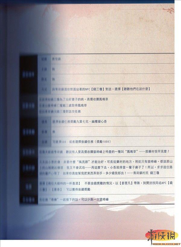 《仙剑奇侠传5》支线剧情任务攻略