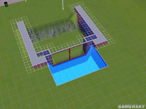 《模拟人生3》地下室看游泳池的做法