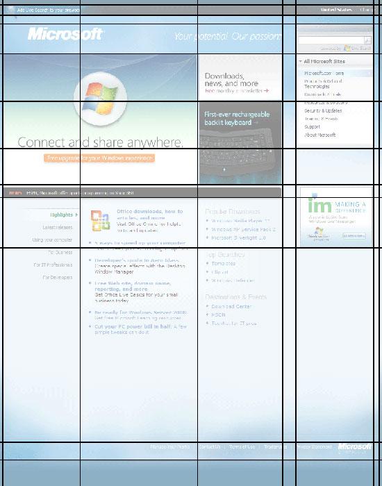 网页设计的栅格
