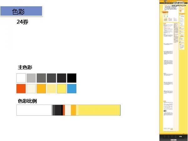 网站的色彩比例:理性的方式衡量网页的色彩