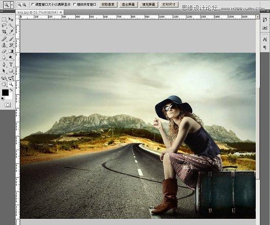 Photoshop教程:巧用抽出滤镜给美女抠图