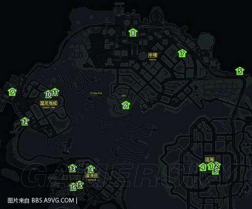 《热血无赖》详细家具搜集地图
