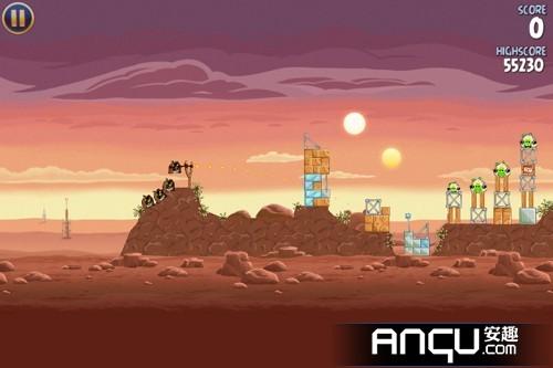 《愤怒的小鸟:星球大战》1-5关三星攻略