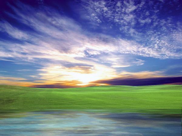 为灰暗的照片添加蓝天白云
