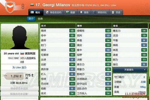 《足球经理2013》便宜实用小妖介绍