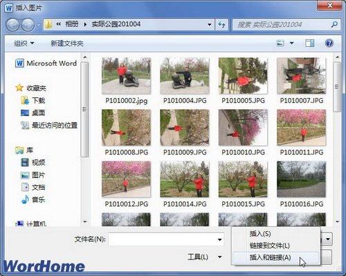 Word2010文档中插入可更新的图片链接