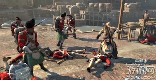 刺客信条3无伤挑战所有士兵战斗技巧
