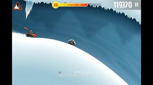 《滑雪大冒险》iPhone版100万分高阶攻略