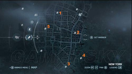 《刺客信条3》宝箱收集指南之纽约东部街区