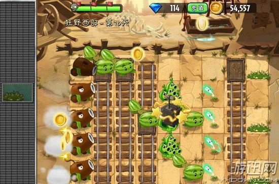 《植物大战僵尸2》中文版狂野西部第十关游戏攻略