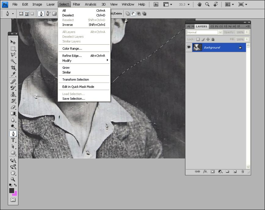 Photoshop修整和恢复老照片教程