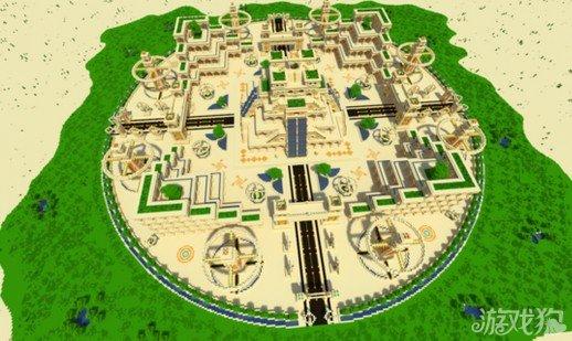 《我的世界》绿洲神庙建筑详解及存档分享