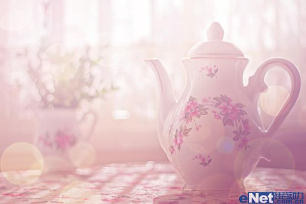 用PS调出唯美淡紫色的室内水壶图片学习教程