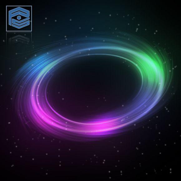 PS利用滤镜及画笔制作漂亮的彩色光环