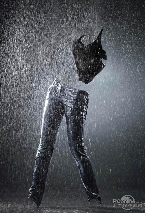 用PS合成雨雾中的神奇水泡美女