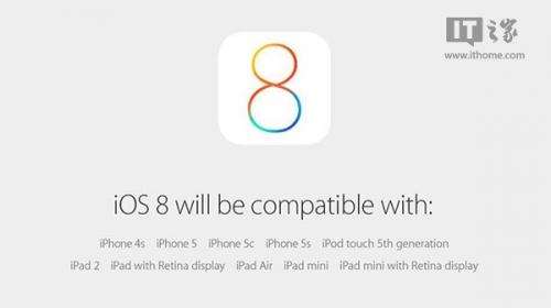 苹果iOS8正式版固件官方下载大全