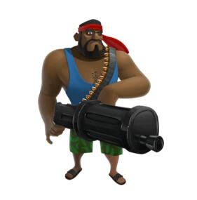 《海岛奇兵》攻略:重机枪手进攻搭配技巧