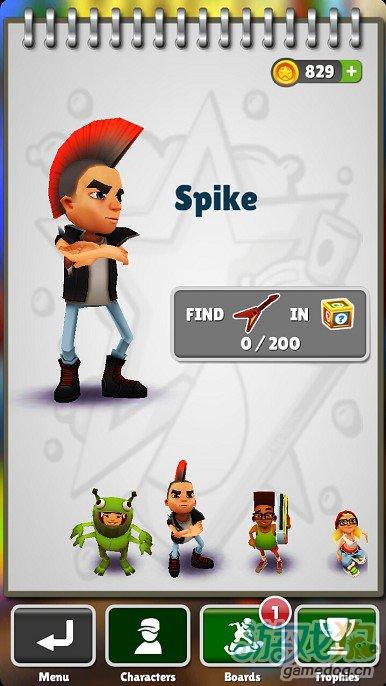 《地铁跑酷》Spike人物介绍