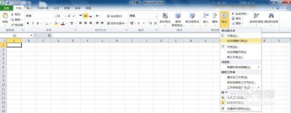 Excel2010工作表中设置行高和列宽