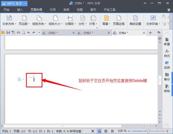 WPS怎么删除空白页面 WPS删除空白页面的五种方法