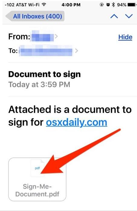 ios9如何通过邮件应用签署文件并回信