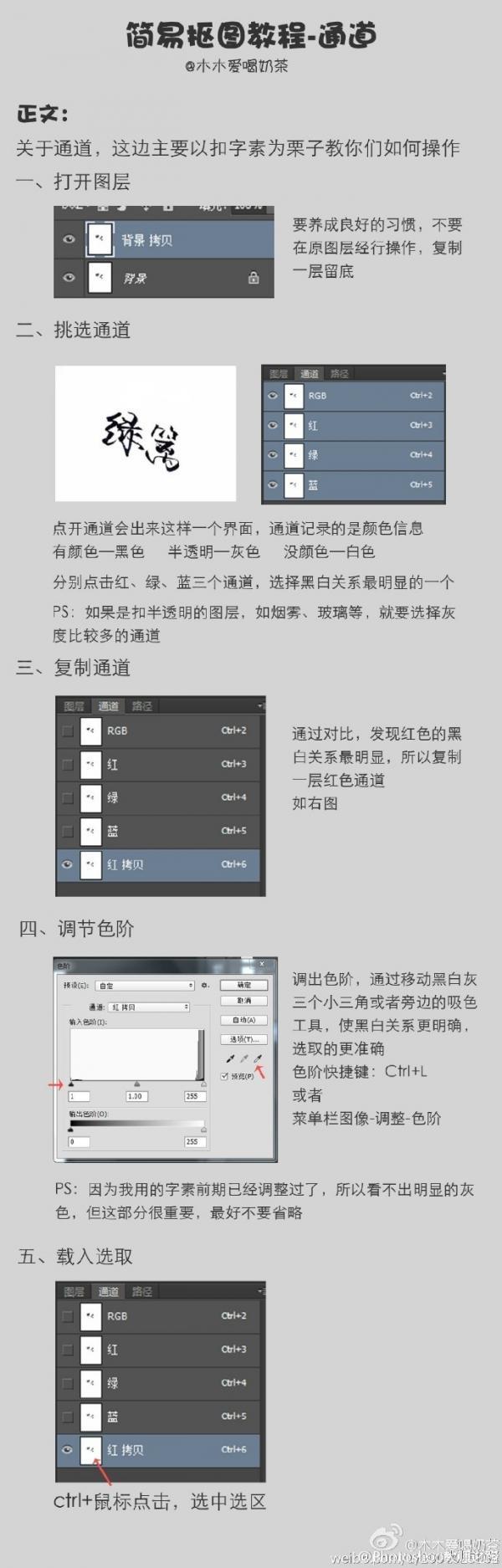 PS简易抠图字体教程