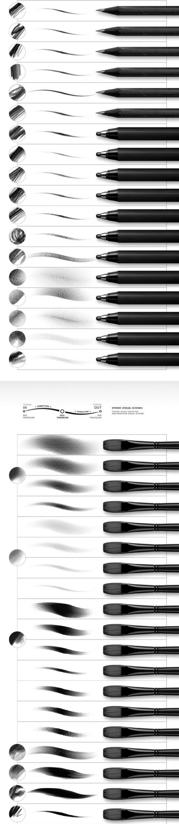 PS5套388款创意概念画师素描手绘画笔刷设计素材在线观看免费