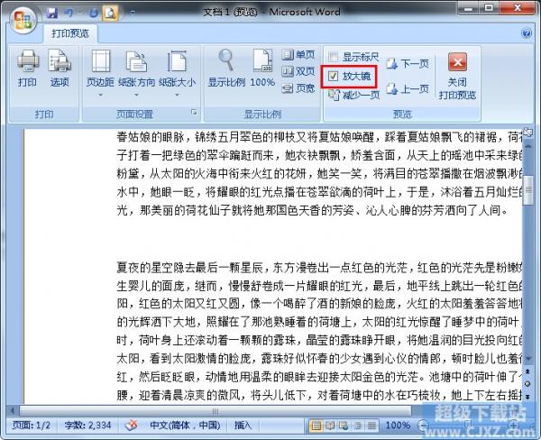 Word文档在打印预览时如何进行编辑?