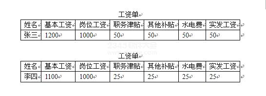 word如何制作工资条_word中工资条的制作方法