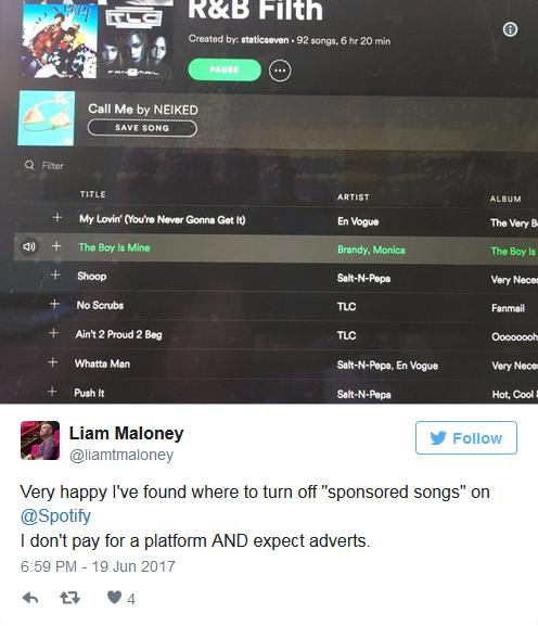 """哇哦!Spotify推出""""赞助歌曲""""新功能"""