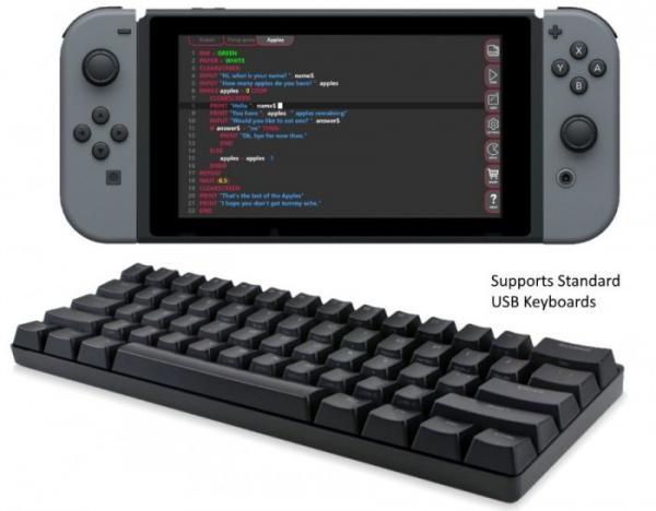 教儿童编程的另一个选择:在Switch主机上编程游戏